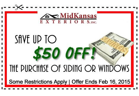 $50 off coupon for your Wichita roofing project
