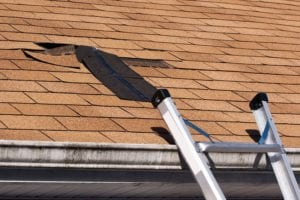 Roofing Contractors Doing Home Exterior Repairs
